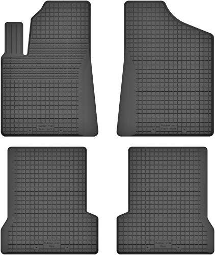 Motohobby Alfombrillas de goma con borde alto de 15 mm para Fiat Seicento – Ajuste perfecto