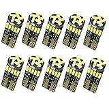 Nakobo 10個 T10 LED ホワイト 車検対応 4014 チップ12V カー/バイク ポジション ナンバー灯/ルームランプ (一年保証)