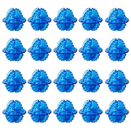 Balle Lavage aux Effets Naturels Balle de Lavage Machine a Laver pour Doudoune Boule de Lavage Machine a Laver Sans Lessive pour les Soins Respectueux 20 Pièces (Couleur Aléatoire)