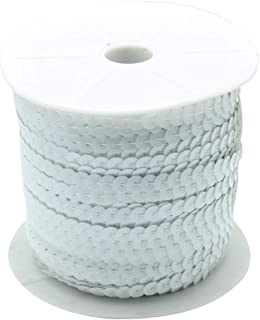 arricraft 100 Yards 1 Roll White Flat Round Spangle Sequin Paillette Beads Trim Spool String Ornament Accessories, About 6mm(1/4 inch) Wide