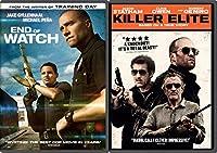 Killer Elite & End of Watch DVD Crime Action Movie Set Double Feature Bundle
