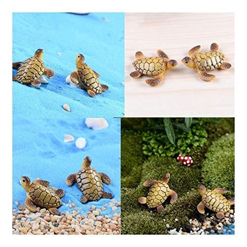 MINGMIN-DZ Dauerhaft 6 PC-Hauptdekoration DIY Puppen Bonsai Figuren Geschenke Meeresschildkröte Modell Miniatures Fee Garten-Dekoration