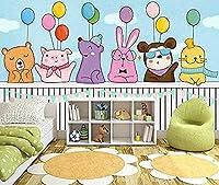 漫画の動物カラフルな風船の壁紙壁の壁紙の装飾3D壁紙ペーストリビングルーム寝室の壁壁画* 400cmx280cm