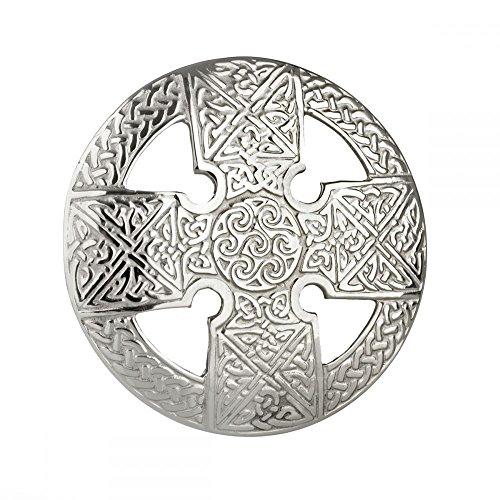 Eburya Keltisches Kreuz Plaid Brosche - Original Highland Schmuck aus Schottland