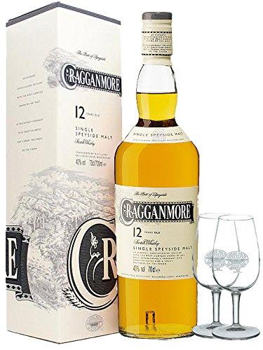Cragganmore 12 Jahre Single Malt Whisky 0,7 Liter + 2 Classic Malt Tasting Gläser