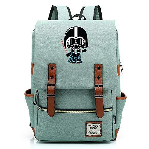 Teenager School Backpack, Outdoor Oxford Backpack, Black Samurai Backpack, Water Resistent Durable 14 inch. Color-01.