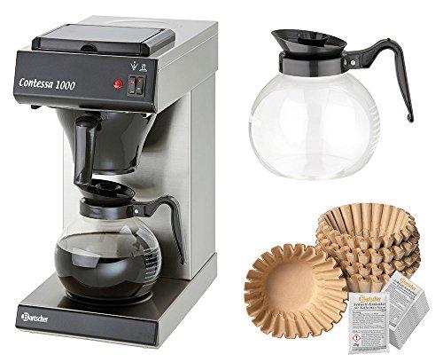 Bartscher Kaffeemaschine Contessa 1000 + 250 Filter + 2. Kanne + Entkalker