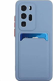 Lijc Kompatibel med Huawei P40 Pro Plus Fodral [Skärmskydd] Skyddskåpa med Kortplats Ultratunt Flexibelt mjukt Silikon TPU...