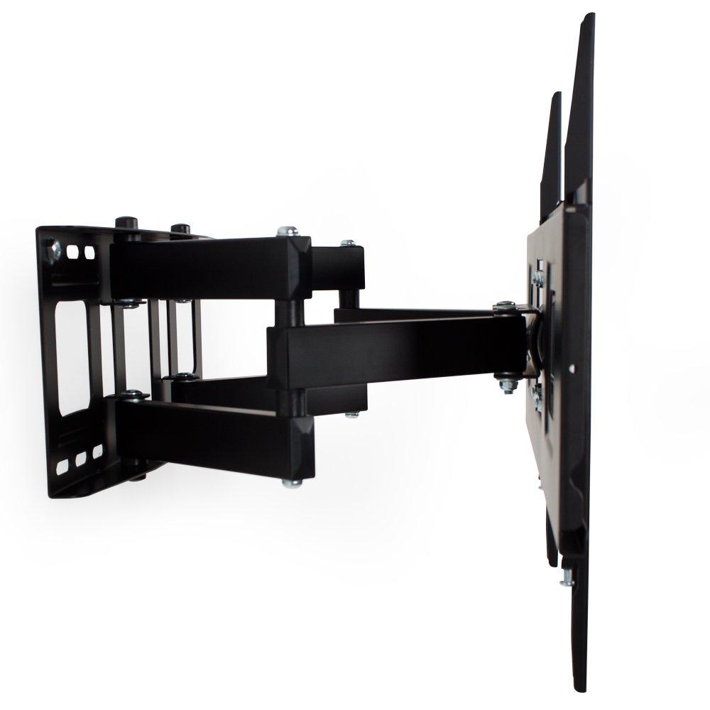TecTake Soporte de Pared para TV de Pantalla Plana, inclinable y Giratorio VESA MAX 600x400 máximo 120kg de 81 - 165 cm (32
