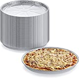 Pack of 25 Disposable Round Foil Pizza Pans – Durable Pizza Tray for Cookies, Cake, Focaccia and More – Size:11' x 11' x 2/7'