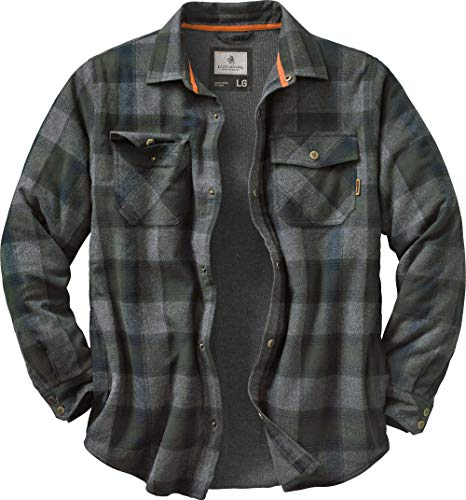 Legendary Whitetails Men's Archer Thermal Lined Shirt Jacket (Balsam Shadow Plaid, Large)