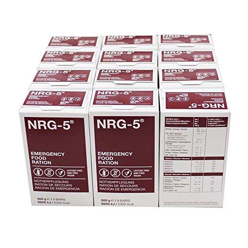 NRG5 12 x 500 g Notfallnahrung, je á 9 Riegel