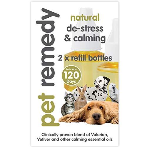 Pet Remedy Lot de 2 recharges Naturelles déstressantes et calmantes 40 ML