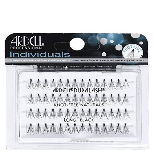 ARDELL Individuals Long (Knot Free), Eye-lashes Einzelwimpern aus Echthaar (1 x 56 Stück), black, schwarz (ohne Kleber) (1x)