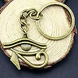 WYSIWYG 3 Piezas Llavero Llaveros Mujer Llavero Pareja para Llaves Ojo De Horus 33x27mm