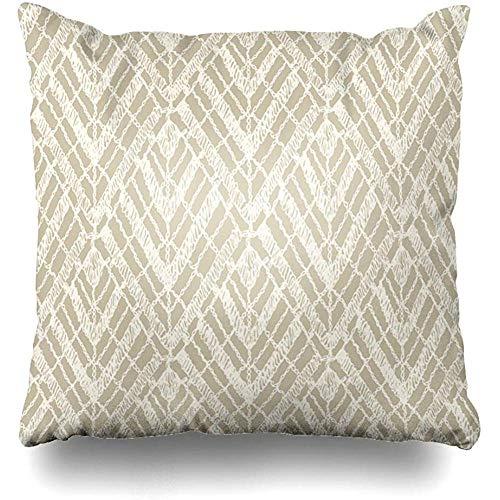 Ducan Lincoln Pillow Case Funda De Cojín Chevron Patrones Bohemios Crochet Mesh Indian Boho Brocade Canvas Carpet Funda De Cojín Moderna Funda De Almohada Cuadrada