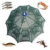 Automatic Portable Folded Fishing Net Fish Shrimp Baits Minnows Cast Crayfish Crab Mesh Trap No Rust Fishing Kit