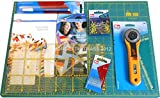 Prym Starter Kit per Patchwork Tappetino Tappeto Grande 90cm x 60cm autorigenerante taglierino Rotante 45mm OLFA Base Taglio