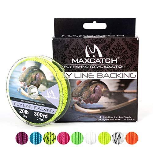 Maximumcatch Fliegenschnüre Backing Fliegenfischen Geflochtene Schnüre 20/30lb,100/300yards (Gelb&schwarz, 30lb,100yards)