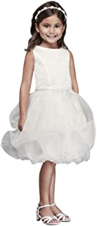 2dd432a68b7d6 David's Bridal Organza Bubble Skirt Flower Girl/Communion Dress Style CR1391