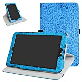 Mama Mouth 360 Grad Rotary mit Ständer Cute Muster Cover für 20,3 cm LG G Pad X II 8.0 Plus T-Mobile V530 Android 7.0 Tablet blau blau