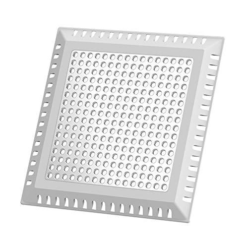 Uxoz Quadrat Abflussschutz, Abflusssieb für Dusche, Abflussabdeckung für Badezimmer (10.15cm)