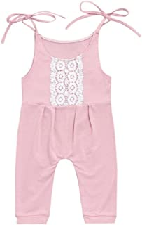 xiaodriceee Toddler Baby Girl One Piece Jumpsuit Sleeveless Backless Flare Bib Pants Suspenders Overall Trousers Outfits