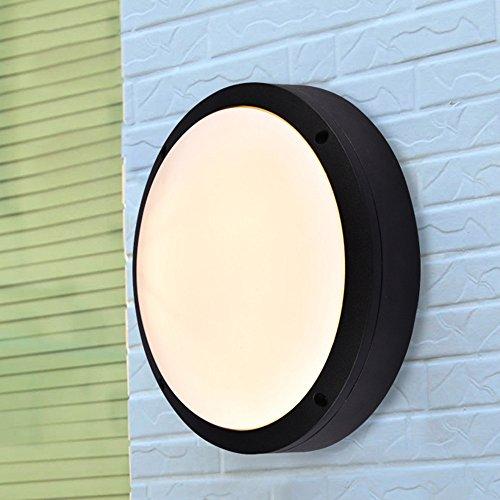 JJZHG Applique Murale Interieur Lamp Murale Extérieure étanche à la Poussière LED plafonnier étanche moustique Villa de Jardin lamp murale,Grand 12W Blanc Chaud