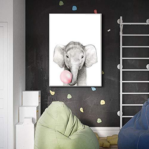 Leinwanddrucke Bubble Elephant für Plakate und Bilder Kunstwerk Wandkunst Dekor für Wohnzimmer60x90cmRahmenlose Malerei