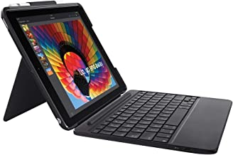 Logitech Slim Combo Case with Detachable Backlit Bluetooth Keyboard for iPad - 5th and 6th Generation (Renewed)
