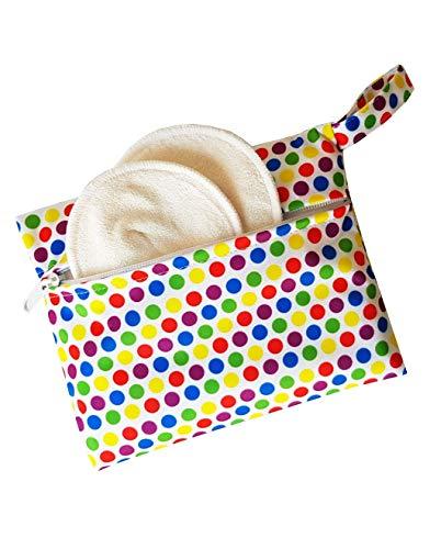 Maman et bb Nature - Pochette imperméable pour coussinets d'allaitement ou serviette hygiénique lavable - Petit Pois