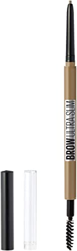 Maybelline New York Brow Ultra Slim Defining Eyebrow Makeup Mechanical Pencil with .55 MM Tip & Blending Spoolie For ...