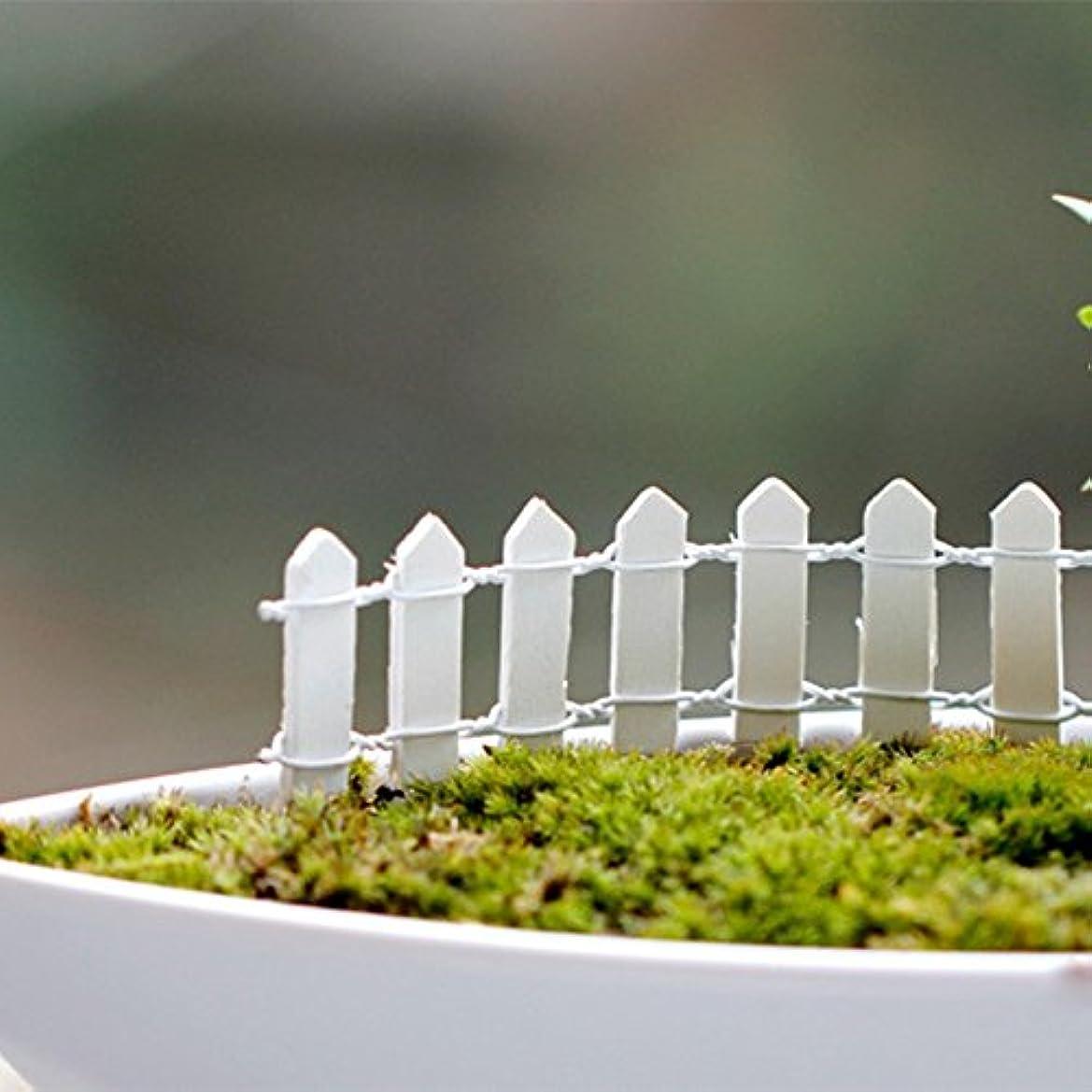 貫入手首瞑想的Jicorzo - 20個DIY木製の小さなフェンスモステラリウム植木鉢工芸ミニおもちゃフェアリーガーデンミニチュア[ホワイト]