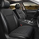 Black Panther Car Seat Cover, Luxury Car Seat Protector,Universal Anti-Slip Driver Seat Cover with Backrest, Diamond Pattern Embroidery (1Piece,Black)
