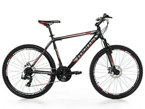 """Moma Bikes MTB GTT -  Bicicleta 26"""" Btt Shimano profesional, Aluminio, Unisex Adulto, Negro , M (1,55-1,69 m)"""