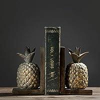 KTYXDE 北欧のパイナップル形の本の本棚研究アメリカの小さな装飾品の装飾家による創造的な家11 x 8.5 x 17.5 cm 本棚