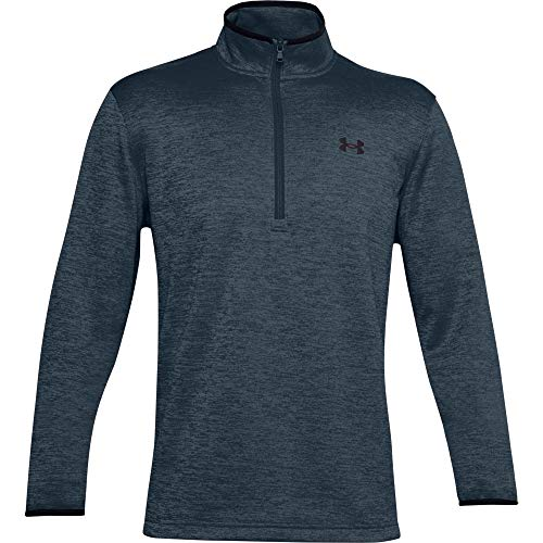 Under Armour Men's Armour Fleece 1/2 Zip T-Shirt , Mechanic Blue (467)/Black , X-Large