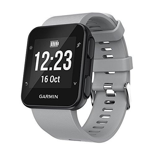 KOMI Correa de reloj compatible con Garmin Forerunner 35/30 Smart Watch, correa de repuesto de silicona