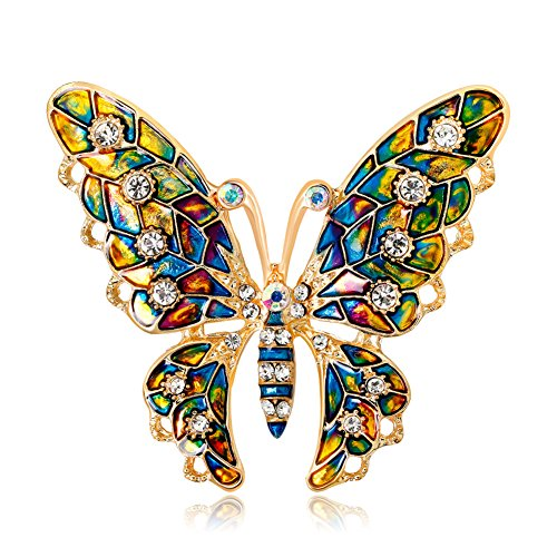 Ruikey Broche Creativo único Broche Mariposa Color Broches para Vestidos de Fiesta 5.3 * 4.6 cm