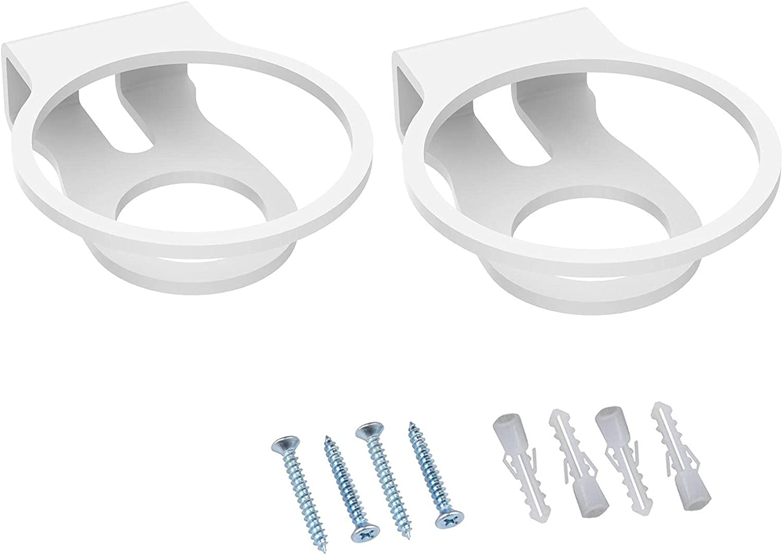 SDFLKAE Soporte de pared para altavoz de 2 piezas, acrílico fácil de instalar, compatible con mini altavoces Homepod (blanco)