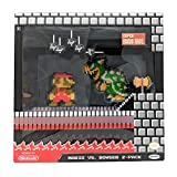 World of Nintendo 2.5' 8-Bit Classic Mario vs Bowser Action Figure 2-Pack