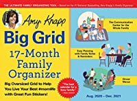 Amy Knapp Big Grid Family Organizer August 2020-December 2021 Calendar
