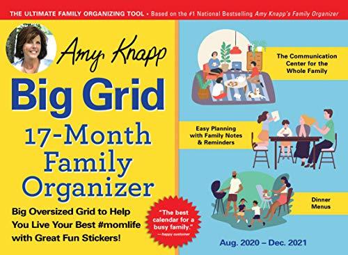 2021 Amy Knapp's Big Grid Family Organizer Wall Calendar: August 2020-December 2021