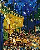 Pintar por numeros Van Gogh – Cafe - Pintura para Pintar por números con Pinceles...