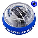 ACELETE Auto-Start 2.0 Power Ball Wrist Trainer Ball Forearm Exerciser Wrist Strengthener Workout Toy Spinner Gyro Ball with LED Lights