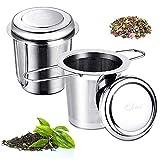 Filtro de té, infusor de té de acero inoxidable 304, colador de té de malla...