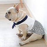 N/A Perro Mascota Ropa De Primavera Y Verano Ropa para Perros De Algodón Estilo Marinero Ropa para Perros Ropa para Perros Bulldog York Soft La Ropa para Mascotas Regalo Cumpleaños para Mascotas