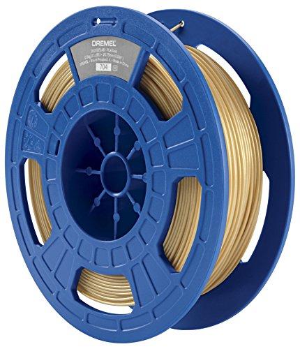 Dremel 3D Drucker (PLA Filament 1,75mm, Zubehör für DigiLab 3D-Drucker (3D20, 3D40, 3D45), mit RFID Material Erkennungs-Chip) gold