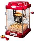 celexon machine à Popcorn avec agitateur intégré CinePop CP1000-24,5x28x43cm - Rouge-Retro/Cinema-Design - Design en acier inoxydable