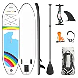 Wonder Maxi Inflatable Stand Up Paddle Board, All Skill Levels SUP 10'6' x 30' x 6' Non-Slip Deck with Premium SUP Accessories Durable Lightweight Touring SUP with 3 Fins for Surfing/Yoga/Fishing